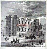 Antique Old London Engraved Print c1878 - 'Chapel Royal, Whitehall'