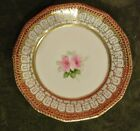 """Antique Hand Painted Nippon Plate Roses w/ Gold Embellishment 6-1/4"""""""