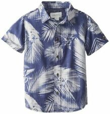 Branded Export Surplus Half Sleeves Casual   printed Blue  Shirt For Men -S Size