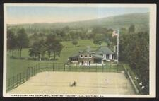 Postcard MONTEREY Pennsylvania/ PA Golf Course Country Club & Tennis Courts 10's