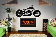 Wall Art Vinyl Sticker Room Decal Mural Decor Chopper Bike Sport Speed bo1692