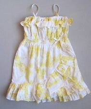 Baby Gap Girls 3T SPRING BREAK Yellow Floral Ruffled Sundress EUC