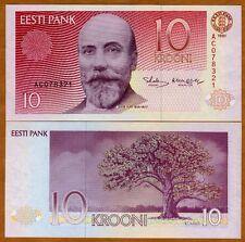 Estonia, 10 Krooni, 1991, P-72a, UNC   Pre Euro
