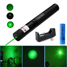 Military 5mW Powerful 532nm Green Laser Pointer Pen Beam Light +18650+Charger BG