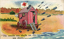 WW1 Anti-Kaiser Patriotic. Smells Sea Shells on the Sea Shore # 680 by Chalker.