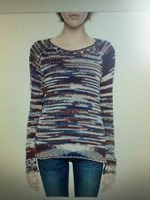 TRUE RELIGION WOMEN HAND KNIT CHUNKY SWEATER OX BLOOD WSP1442TR NWT (M) $198