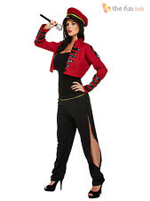 Ladies Pop Star Judge Fancy Dress Sexy Cheryl Womens Celebrity Military Costume