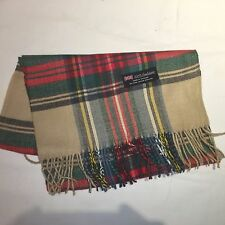 100% Cashmere Winter Scarf Scarve Scotland Warm Plaid Christmas Color Wrap Shawl