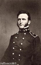 Handmade Oil Painting repro Portrait of General Stonewall Jackson Colorized