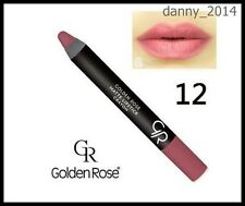 Golden Rose Matte Lipstick Crayon Pencil 1 pcs # 12, New LOT