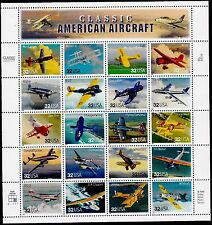 US AVIATION 1997 SCOTT 3142 CLASSIC AMERICAN AIRCRAFT 20 MVF 32c STAMP SHEET SET