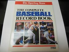 1988 COMPLETE MLB BASEBALL RECORD BOOK GUIDE GOOD CONDITION THE SPORTING NEWS