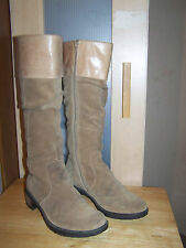 CLARKS Beige Leather Suede Womens Knee High Boots UK-5,5D  EU-38,5