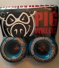 PIG WHEELS Skateboard  Super Cruisers  Wheels 58mm Blue Pig Supercuiser Wheels