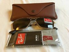 Ray Ban Caravan Craft/Leather Polarized P3 Luxotica with leather case 55-15