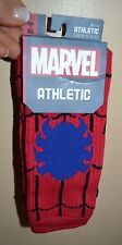 Spider-Man Athletic Crew Socks Licensed Marvel Comics Sock Sz10-13 Shoe Sz 8-12