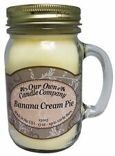 Banana Cream Pie Scented Candle in 13 oz Mason Jar by Our Own Candle Company