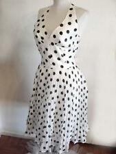 NWT BETSEY JOHNSON MARILYN POLKA DOT PLEATED HALTER DRESS~4