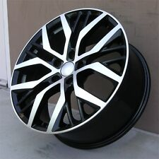 "(4) 18"" 18X8 5X112 BLACK MACHINED WHEELS VOLKSWAGEN JETTA GOLF CC GTI PASSAT MK"
