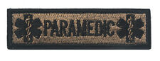 PARAMEDIC MEDIC NURSE ARMY MORALE TACTICAL  HOOK & LOOP PATCH   HS   736