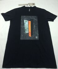 NEW DAMIR DOMA SILENT TEVY Black Short Sleeve Long T-Shirt Crew Neck Tee Men's M