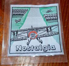 Lot 5 NEW Premium Woven Label NOSTALGIA  Sew on Fashion Patches  2 5/8 x 2 3/4
