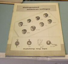 1958 College Seal and Crest Company Catalog School Rings Cambridge Massachusetts
