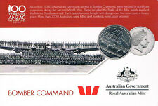 AUSTRALIA: 2016 20 CENT ANZAC BOMBER COMMAND UNCIRCULATED ON CARD