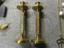 Rare Vintage Pair of Heavy Brass  9 ins  candlesticks    *CS151*