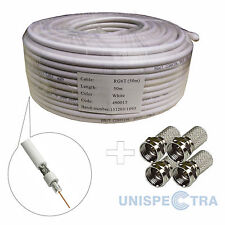50m CCTV SKY SATELITE FREEVIEW DIGITAL AERIAL COAXIAL CABLE - HIGH QUALITY