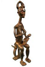 Art Africain - Grande & Délicate Statue de Maternité Ashanti - Ghana - 59,5 Cms