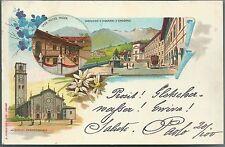 1899 ADORNO PARROCCHIALE CASA PIETRO MICCA S GIOVANNI cartolina viaggiata Biella