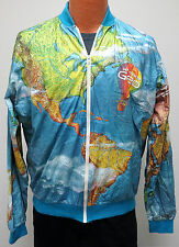 vtg GETTING TO KNOW GEO CAR Tyvek Windbreaker XL 90s World Map All Over funny