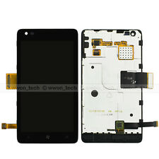 Black Nokia Lumia 900 LCD Display Touch Screen Digitizer Assembly+Frame Bezel