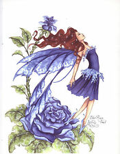 Amy Brown - Blue Rose - OUT OF PRINT - RARE