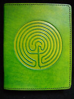 Handmade Leather Journal Book of Shadows Diary - Pagan Wicca Celtic LABYRINTH