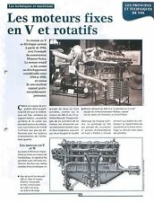 Radial engine Moteurs Fixes en V Rotatif Renault 12 Cyl. Clerget FRANCE FICHE