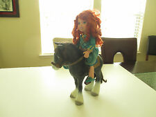 "Beautiful 15"" Disney Princess Merida Doll With Horse Very Nice Toys"