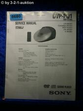 Sony Service Manual DVP PQ1 CD/DVD Player (#6680)