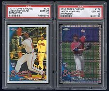 2010 Topps Chrome Refractor and Xfractor Jason Heyward RC PSA 10 Gem Mint LOT