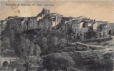 0086) PANORAMA DI GALLICANO NEL LAZIO (ROMA) LATO NORD. VIAGGIATA NEL 19212.