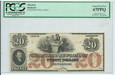Connecticut Union Bank New London Red $20 PCGS 67PPQ G230A Stone Cutter Note