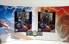 "S.H Figuarts ""Iron Man Mark 46 + Captain America "" SET Tamashii Action Figure"