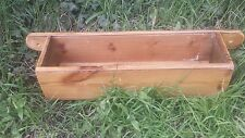 VICTORIAN PINE WALL FIXING PLANTER / STORAGE / SPICES / ECT INT & EXTERIOR