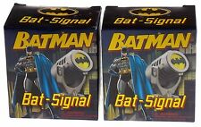 Lot of 2 Batman Bat Signal Replica DC Comics Book Mega Mini Kits Collectible Toy