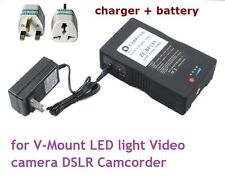 130Wh Sony V-mount V-Lock Rechargeable Battery & Charger f DSLR Camera Camcorder