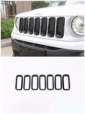 Car Front Grille Inserts Mesh Grill Accessories Black For Jeep Renegade 2015-17