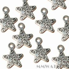 20 Tibetano Plata Antigua just4you Star encanto colgante Beads Tamaño 14mmx11mm ts57