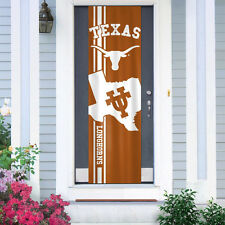 "Texas Longhorns Door Banner 84"" [NEW] NCAA Flag Sign UV Adjustable CDG"