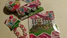 My Little Pony Jewelry Set, Sticker Earrings, Rings, and Charm Bracelet - Party